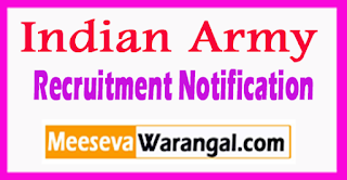 Indian Army Recruitment Notification 2017 Last Date Within 21 Days