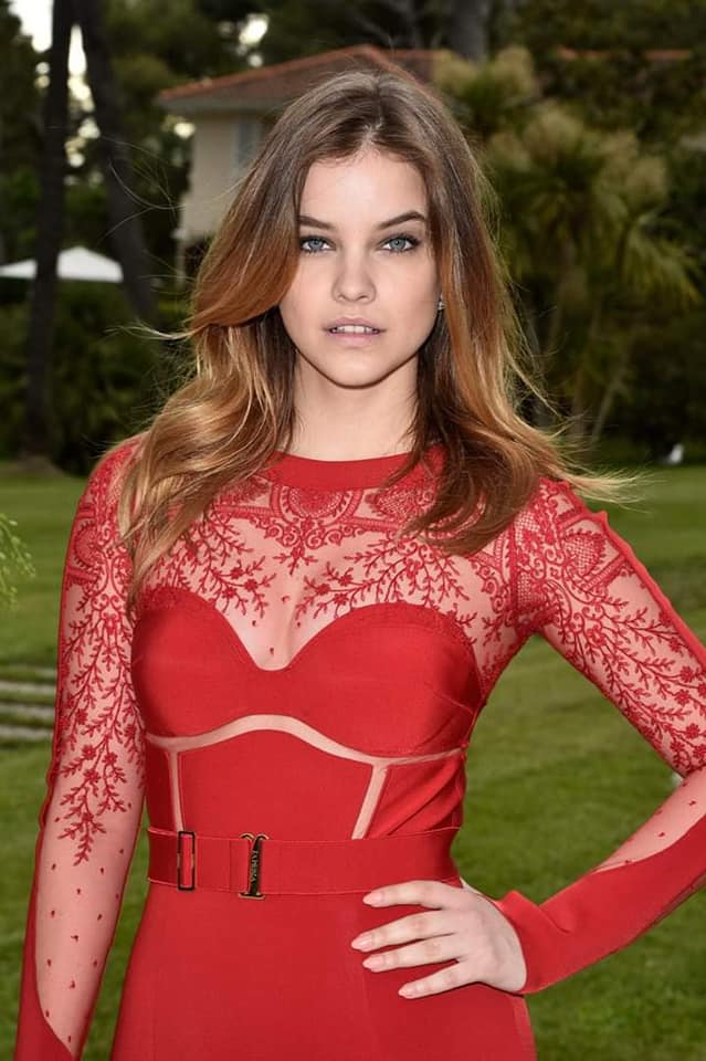 Barbara Palvin Looks Hot in Red Outfit
