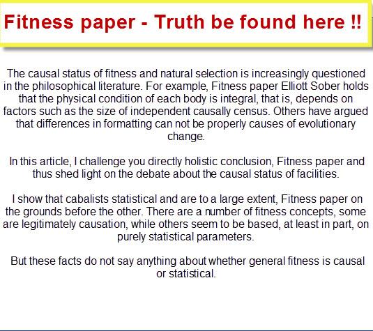 Fitness essays