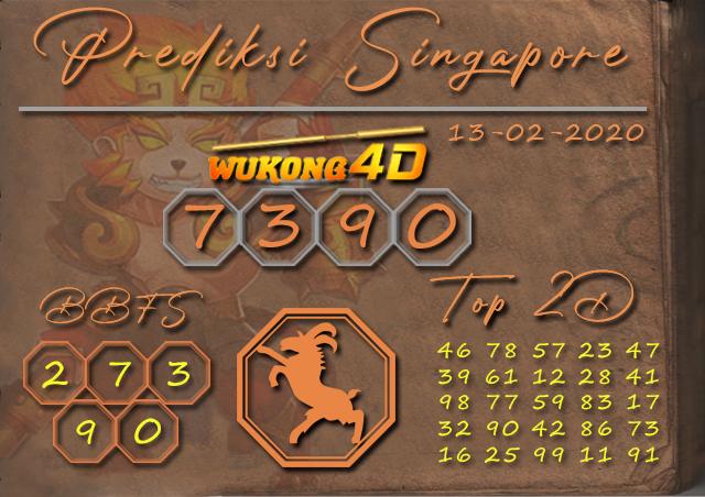 Prediksi Togel SINGAPORE WUKONG4D 13 FEBRUARI 2020