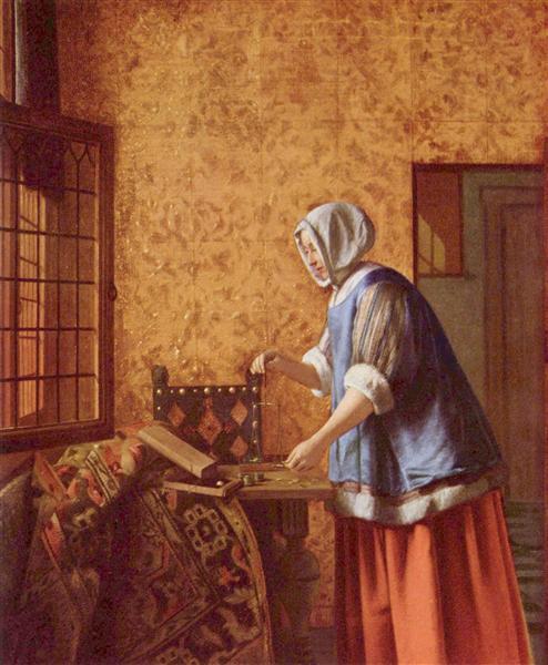 Pieter de Hooch Женщина взвешивает золотые монеты