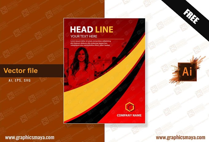Simple Flyer Design Template Vector Free Download