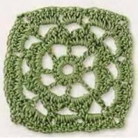 Patrón #1859: Como tejer cuadro a crochet