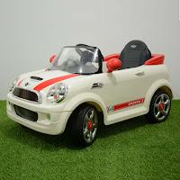 Mobil Mainan Aki Junior W446EQ Mini Cooper Lisensi-Red