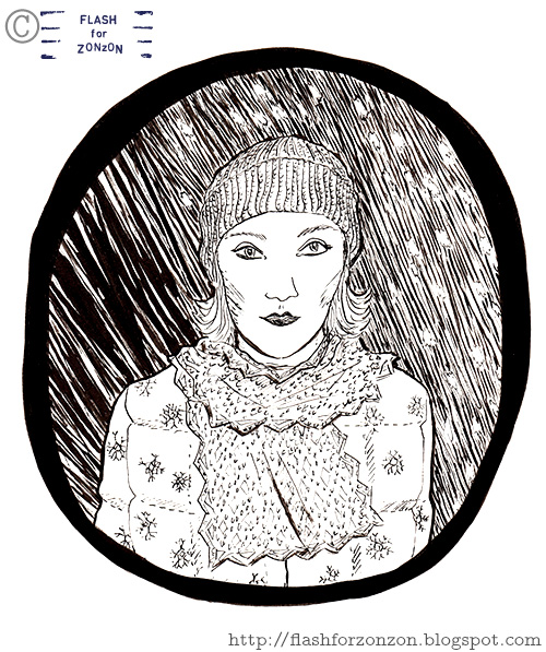 Seasons. November Weather Girl Portrait.