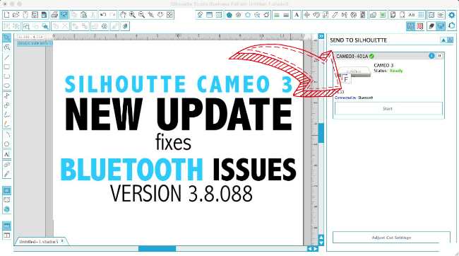 Silhouette CAMEO 3 bluetooth help set up silhouette cameo tutorials