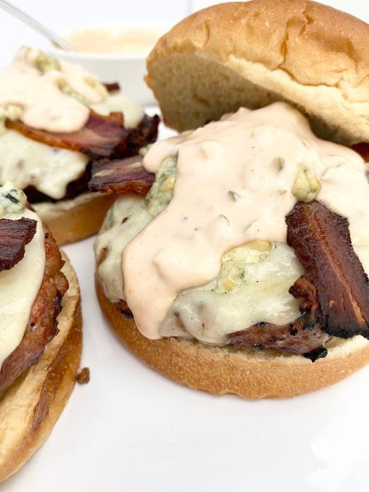 Bacon & Bleu Pork Burgers