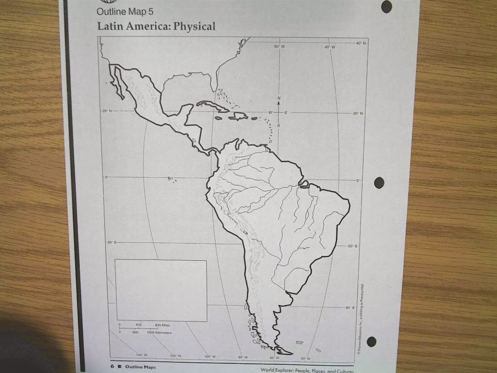 Bt Wilson Bobcat Social Stu S Physical Map Of Latin America
