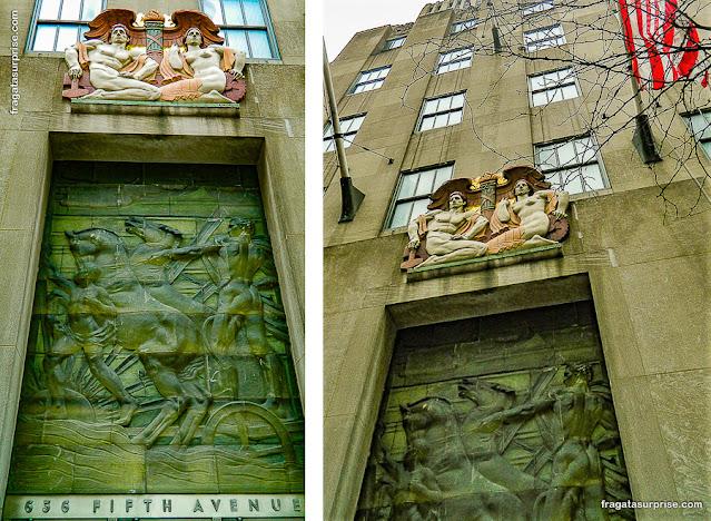 Decoração art déco do Rockefeller Center, Nova York