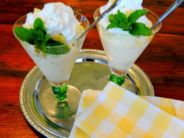 Pineapple Banana Frozen Dessert and Inspirational Summer Florals
