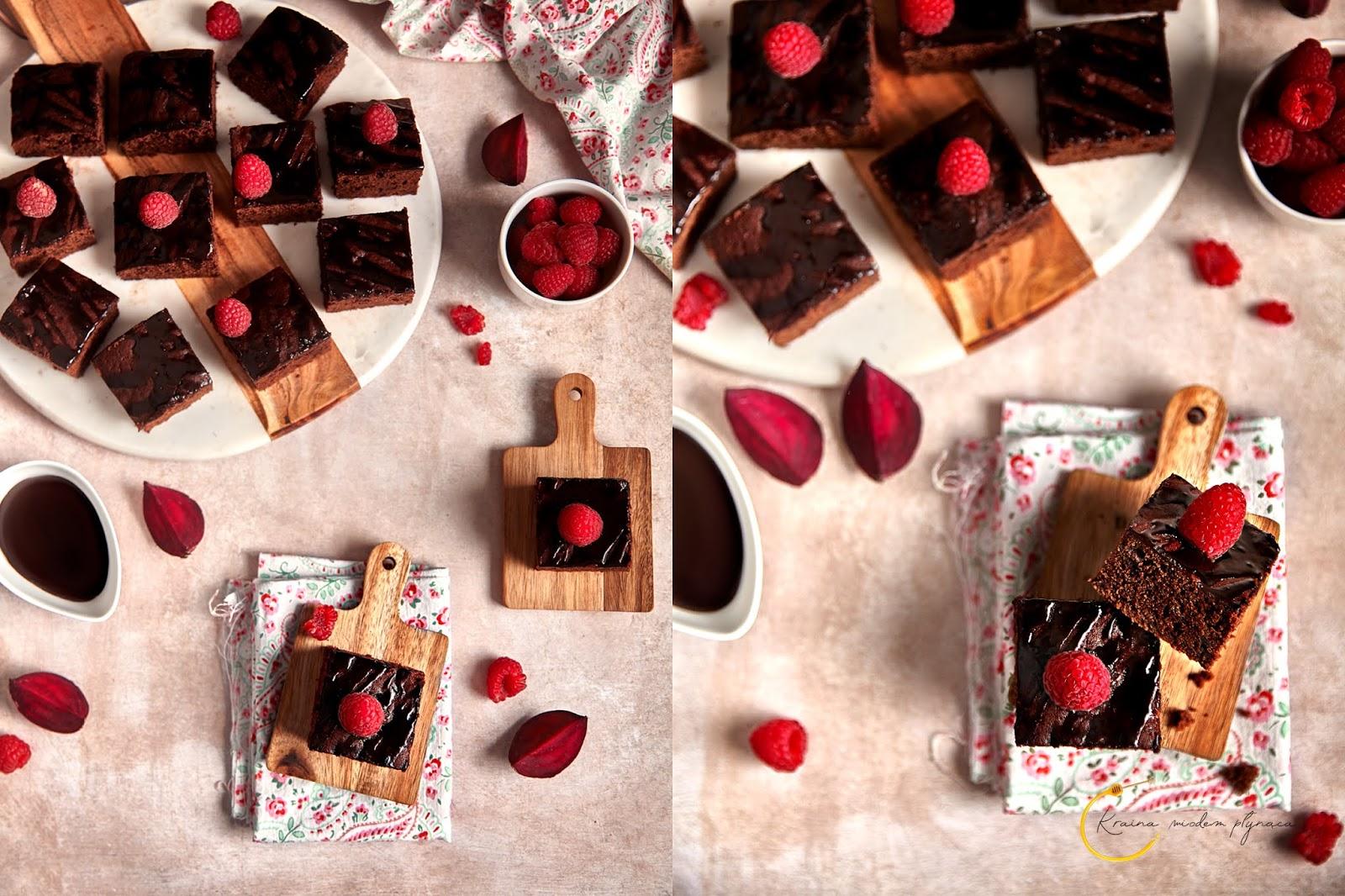ciasto buraczkowe, ciasto z burakami, ciasto z buraków, czekoladowe ciasto z burakiem, brownie z burakiem, ciasto murzynek, kraina miodem płynąca, fotografia kulinarna szczecin
