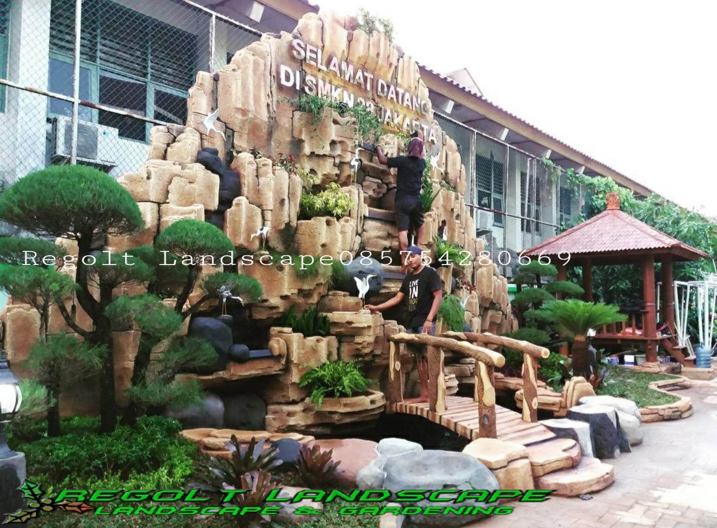 Jasa Pembuatan Dekorasi Kolam Tebing - Relif Air Terjun Di Lamongan
