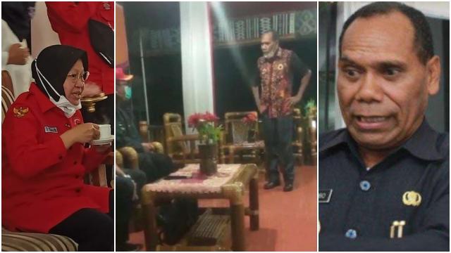Bupati Alor Katai Risma Bodok dan Usir Staf Kemensos: Pimpin Surabaya Cuma Tanam Bunga, Tau Apa Dia