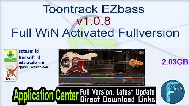 Toontrack EZbass v1.0.8 Full WiN Activated Fullversion