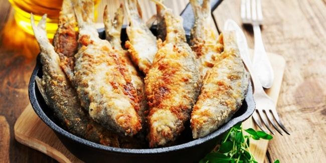 mewarnai gambar ikan goreng