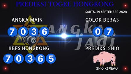 Prediksi Togel Angka Jitu Hongkong HK Sabtu 19 September 2020
