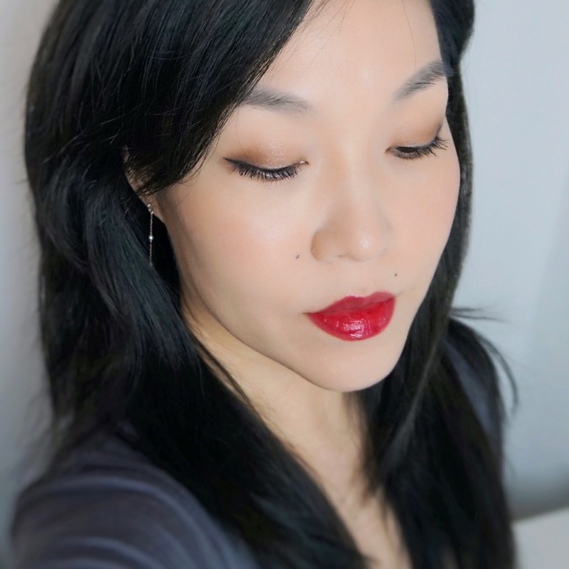 YSL Water Stain 603 In Berry Deep makeup look swatch