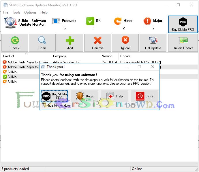 KC Software SUMo Pro Full Version