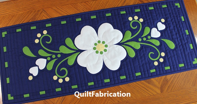 Spring Fling table runner by QuiltFabrication