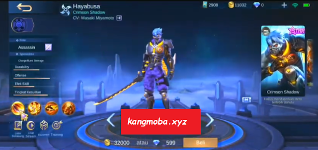 Script Skin Starlight Hayabusa Biological Weapon Full Effect Mobile Legends