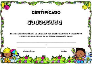 Certificado da Primavera
