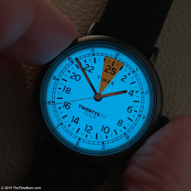 Timex 25th Hour Watch  lume