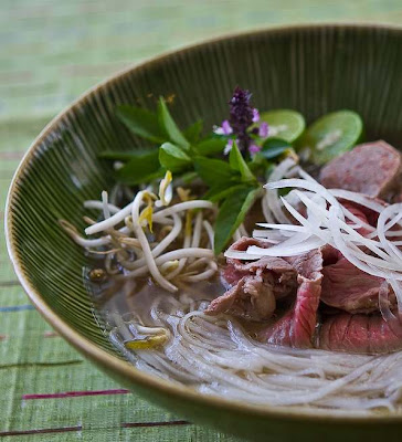 Slow Cooker Pho (Vietnamese Beef Noodle Soup) from Steamy Kitchen found on SlowCookerFromScratch.com