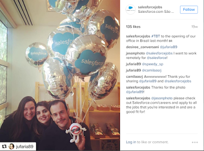 Social media recruiting instagram salesforce