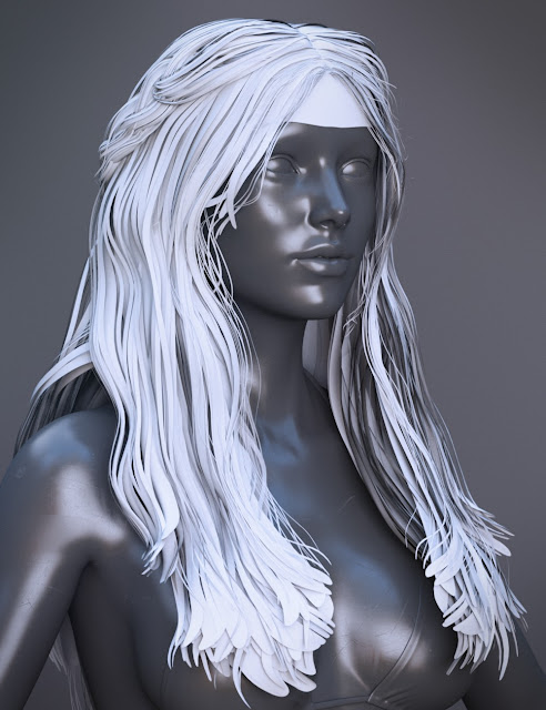 Colony Hair for Genesis 3 Female