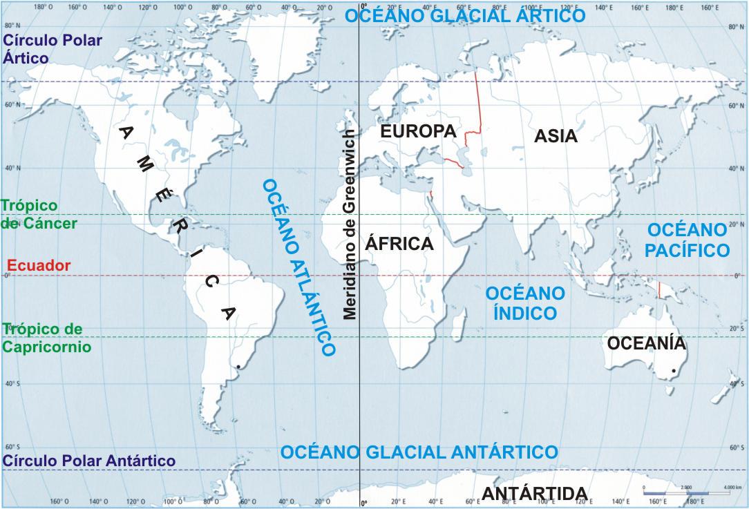 Cuales Son Los 6 Continentes Del Planisferio: Continentes Del Planisferio