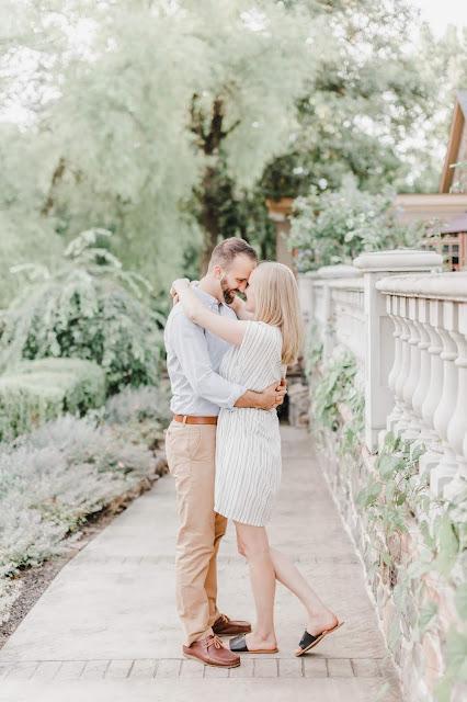couple on garden path