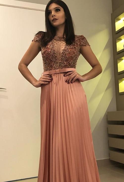 vestido de festa manguinha