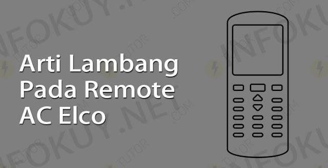 arti lambang pada remote ac elco