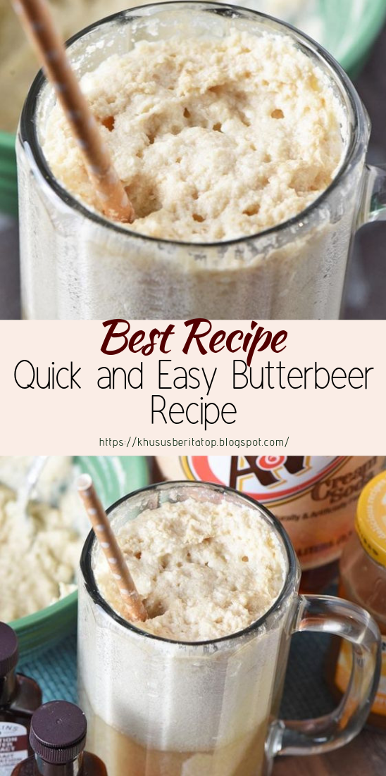 Quick and Easy Butterbeer Recipe #healthydrink #easyrecipe #cocktail #smoothie