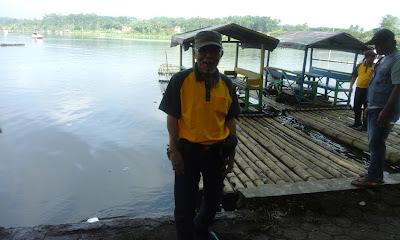 """Image """"Ki Slamet 42 di danau Situ Bagendit (Foto: SP)"""