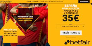 betfair supercuota España gana Suecia 10 junio 2019