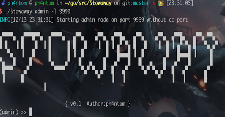 Stowaway : Multi-hop Proxy Tool For Pentesters
