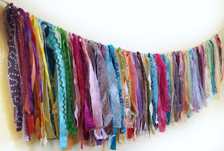 boho garland, eco friendly party decor, refabulous Connie Crawley, sewist, designer, artist