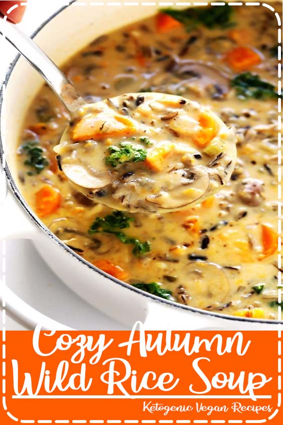 sub the butter and milk with vegan butter Cozy Autumn Wild Rice Soup