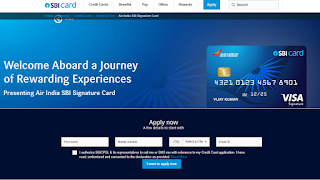 Air India SBI Signature Card, How to Apply SBI Credit Card Online