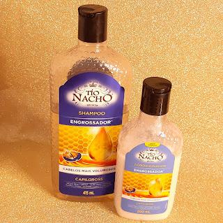 resenha Shampoo e Condicionador Engrossador Tio Nacho dicas da tia