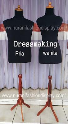 Patung Manekin Dressmaking Kain Busa Pria