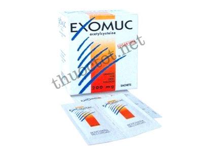 Thuốc long đờm Exomuc 200 mg của Pháp