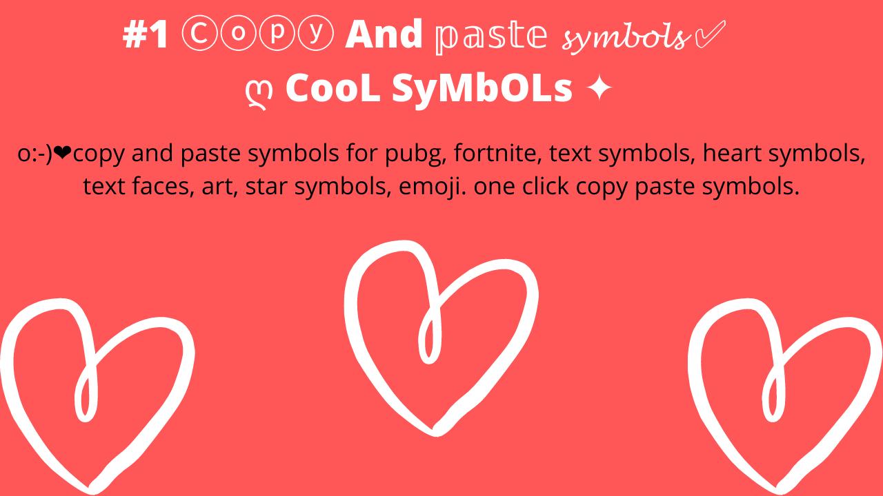 Emojis copy paste symbols
