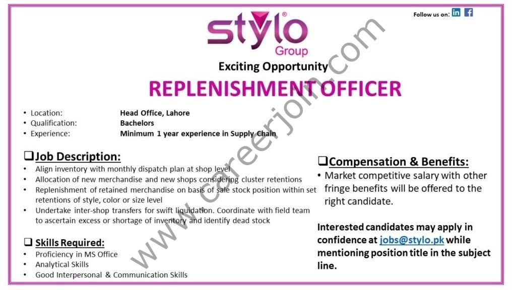 Stylo Pvt Ltd Jobs August 2021