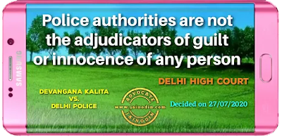 Police authorities are not the adjudicators of guilt or innocence of any person