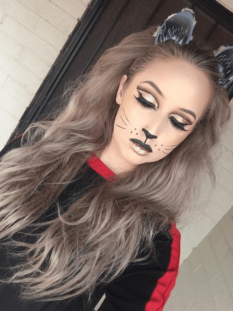 Maquiagem Gatinha Halloween