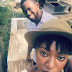 Yvonne Jegede and fiance Kunle stop over at Bukky Ajayi's Grave (Photos)