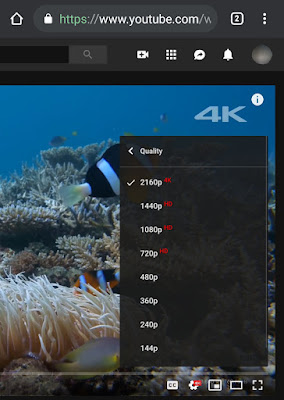 Enable YouTube 4K video quality on Chrome