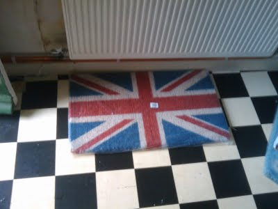 union jack union flag UK doormat wipe your feet on this welcome home